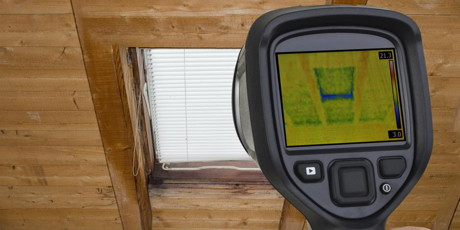 Green Homes Illinois, Infrared imaging of attic window, IL